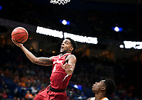 NWA Democrat-Gazette/CHARLIE KAIJO Arkansas Razorbacks guard Daryl Macon (4) reaches for a layup during the Southeastern Conference Men's Basketball Tournament semifinals, Saturday, March 10, 2018 at Scottrade Center in St. Louis, Mo. The Tennessee Volunteers knocked off the Arkansas Razorbacks 84-66