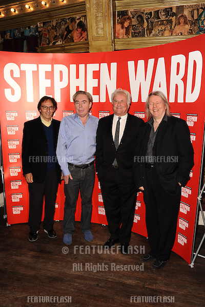 "Don Black, Lord Andrew Lloyd Webber, Christopher Hampton and Richard Eyre at the photocall to launch Lloyd Webber's new musical ""Stephen Ward"" at The Box, Soho, London.  30/09/2013 Picture by: Steve Vas / Featureflash"
