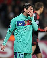 FUSSBALL   CHAMPIONS LEAGUE   SAISON 2011/2012   ACHTELFINALE  Bayer 04 Leverkusen - FC Barcelona              14.02.2012 Lionel Messi (Barca)