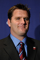 DC United head coach Curt Onalfo during the MLS SuperDraft at the Pennsylvania Convention Center in Philadelphia, PA, on January 14, 2010.