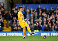 30th November 2019; Stamford Bridge, London, England; English Premier League Football, Chelsea versus West Ham United; Goalkeeper Kepa Arrizabalaga of Chelsea  - Strictly Editorial Use Only. No use with unauthorized audio, video, data, fixture lists, club/league logos or 'live' services. Online in-match use limited to 120 images, no video emulation. No use in betting, games or single club/league/player publications