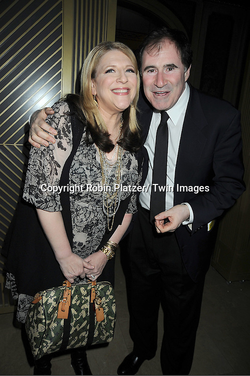 """Lisa Lampanelli and Richard Kind arrive at the """" End Of The Rainbow"""" Broadway opening night party  at The Plaza Hotel  in New York City on April 2, 2012. The show stars Tracie Bennett, Tom Pelphrey, Michael Cumptsy and Jay Russell."""