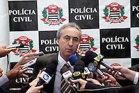 S&Atilde;O PAULO,SP,27 JUNHO 2012 - MENINA DESAPARECIDA PRIS&Atilde;O SUSPEITO<br /> O delegado do 6&ordm; DP Jos&eacute; Gonsaga Pereira da Silva Marques durante coletiva na tarde de hoje, o delegado informou q o suspeito preso no inicio da tarde de de hoje n&atilde;o &eacute; o homem procurado acusado de sequestrar a menina Brenda. FOTO ALE VIANNA / BRAZIL PHOTO PRESS