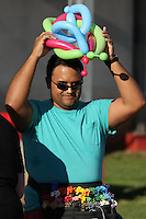 Piscataway, NJ - Saturday July 23, 2016: balloon artist prior to a regular season National Women's Soccer League (NWSL) match between Sky Blue FC and the Washington Spirit at Yurcak Field.