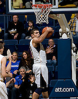 Harper Kamp of California rebounds the ball during the game against UCSB Gauchos at Haas Pavilion in Berkeley, California on December 19th, 2011.   California defeated UC Santa Barbara, 7-50.
