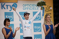 Adam Yates (GBR/Orica-BikeExchange) 2nd overall and leader in the white jersey<br /> <br /> stage 10: Escaldes-Engordany (AND) - Revel (FR)<br /> 103rd Tour de France 2016