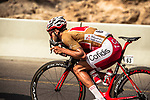 Gold Jersey wearer Loic Chetout (FRA) Cofidis part of the breakaway group in action during Stage 4 of the 2018 Tour of Oman running 117.5km from Yiti (Al Sifah) to Ministry of Tourism. 16th February 2018.<br /> Picture: ASO/Muscat Municipality/Kare Dehlie Thorstad | Cyclefile<br /> <br /> <br /> All photos usage must carry mandatory copyright credit (&copy; Cyclefile | ASO/Muscat Municipality/Kare Dehlie Thorstad)