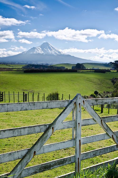 Farmgate, Mount Taranaki (Egmont), North Island, New Zealand - stock photo, canvas, fine art print