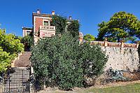 The famous villa Galini in Poros island, Greece