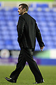 Stevenage manager Graham Westley leaves the pitch after victory.Reading v Stevenage - FA Cup 3rd Round - Madejski Stadium,.Reading - 7th January, 2012.© Kevin Coleman 2012