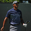 Tiger Woods watches his dirve off the tee on the 4th Hole during the first round of the U.S. Open Championship at Shinnecock Hills Golf Club in Southampton on Thursday, June 14, 2018.