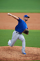 Dunedin Blue Jays pitcher Brady Dragmire (17) delivers a pitch during a game against the Charlotte Stone Crabs on July 26, 2015 at Charlotte Sports Park in Port Charlotte, Florida.  Charlotte defeated Dunedin 2-1 in ten innings.  (Mike Janes/Four Seam Images)