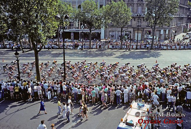 Tour De France on Champs Elysees.In Paris