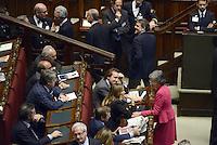 Roma, 19 Aprile 2013.Camera dei Deputati.Votazione del Presidente della Repubblica a camere riunite.Quarto Scrutinio,Anna Finocchiaro e Stefania Prestigiacomo
