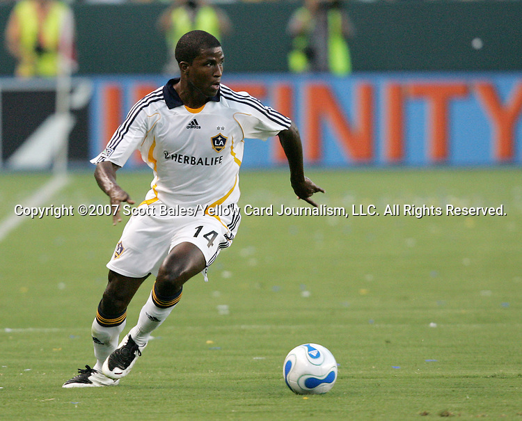 23 August 2007: Los Angeles's Edson Buddle. Club Deportivo Chivas defeated the Los Angeles Galaxy 3-0 in a Major League Soccer regular season match at the Home Depot Center in Carson, CA.