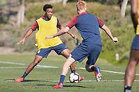 Chula Vista, CA - January 10, 2019: The USMNT trains during their annual January camp in California.