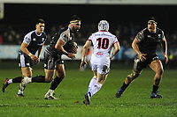 Scott Baldwin of Ospreys in action during the Guinness Pro14 Round 15 match between the Ospreys and Ulster Rugby at Morganstone Brewery Field in Bridgend, Wales, UK. Friday 15 February 2019