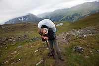 Along stage 9 of the Walker's Haute Route, between La Sage and Cabane du Moiry, Switzerland.