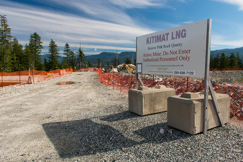 Rock Quarry and Active Mine. Shell/Kitimat LNG project, Kitimat B.C.  2017