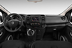 Stock photo of straight dashboard view of 2016 Opel Vivaro Business 4 Door Combi Dashboard
