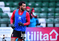Lincoln City's Matt Green during the pre-match warm-up<br /> <br /> Photographer Andrew Vaughan/CameraSport<br /> <br /> The Emirates FA Cup Second Round - Lincoln City v Carlisle United - Saturday 1st December 2018 - Sincil Bank - Lincoln<br />  <br /> World Copyright © 2018 CameraSport. All rights reserved. 43 Linden Ave. Countesthorpe. Leicester. England. LE8 5PG - Tel: +44 (0) 116 277 4147 - admin@camerasport.com - www.camerasport.com