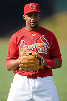 Edgar Lara #27 of the Johnson City Cardinals at Howard Johnson Stadium June 27, 2009 in Johnson City, Tennessee. (Photo by Brian Westerholt / Four Seam Images)