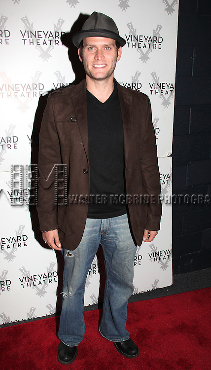 Steven Pasquale.attending the Opening Night Performance of Nicky Silver's 'The Lyons' at the Vineyard Theatre in New York City.