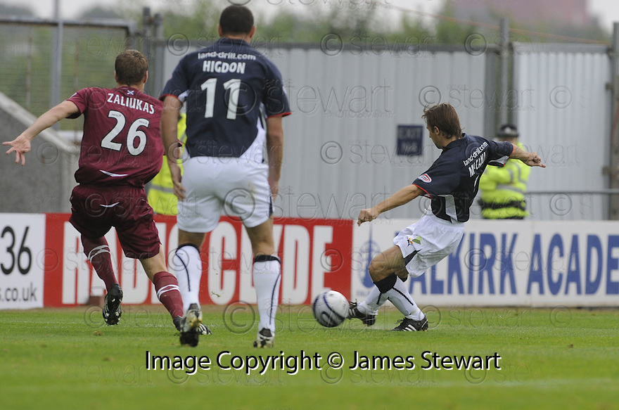 13/09/2008  Copyright Pic: James Stewart.File Name : sct_jspa01_falkirk_v_hearts.NEIL MCCANN SCORES FALKIRK'S FIRST.James Stewart Photo Agency 19 Carronlea Drive, Falkirk. FK2 8DN      Vat Reg No. 607 6932 25.James Stewart Photo Agency 19 Carronlea Drive, Falkirk. FK2 8DN      Vat Reg No. 607 6932 25.Studio      : +44 (0)1324 611191 .Mobile      : +44 (0)7721 416997.E-mail  :  jim@jspa.co.uk.If you require further information then contact Jim Stewart on any of the numbers above........