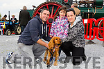 "Enjoying the Threshing Festival and Vintage Rally at Blennerville Windmill on Sunday were l-r  Vincent Reidy, Hannah Reidy and Jennifer O'Carroll with their puppy ""Molly"""