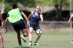 CARY, NC - MAY 10: McCall Zerboni (7) and Rosana (left). The North Carolina Courage held a training session on May 10, 2017, at WakeMed Soccer Park Field 7 in Cary, NC.