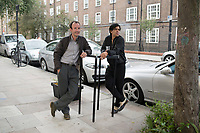 Javier Calderon and architect friend. Free Architecture at the Chalton Gallery, London, England, Great Britain