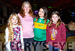 Ciara May, Laura Small, Nadia Woods and Amy Rose Small attending the John Mitchels Lip Sync in the Ballygarry House Hotel on Sunday night.