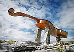 Part of What We Are.......<br /> A &quot;Musical Dolmen&quot; in the Burren near Poulnabrone. Photograph by John Kelly.
