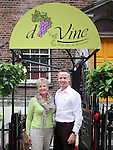 Darina Collins and Gabriel O'Brien at the Opening of D'Vine Restaurant, Dyer Street...Photo NEWSFILE/Jenny Matthews.(Photo credit should read Jenny Matthews/NEWSFILE)....This Picture has been sent you under the condtions enclosed by:.Newsfile Ltd..The Studio,.Millmount Abbey,.Drogheda,.Co Meath..Ireland..Tel: +353(0)41-9871240.Fax: +353(0)41-9871260.GSM: +353(0)86-2500958.email: pictures@newsfile.ie.www.newsfile.ie.FTP: 193.120.102.198.
