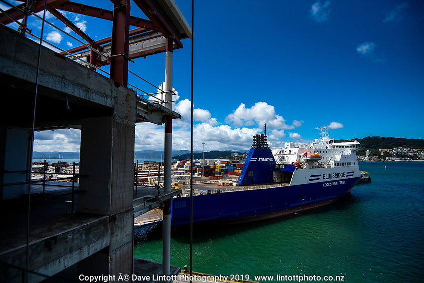Bluebridge Ferry in Wellington, New Zealand on Tuesday, 12 November 2019. Photo: Dave Lintott / lintottphoto.co.nz
