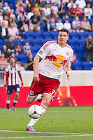 Kenny Cooper (33) of the New York Red Bulls. The New York Red Bulls and CD Chivas USA played to a 1-1 tie during a Major League Soccer (MLS) match at Red Bull Arena in Harrison, NJ, on May 23, 2012.