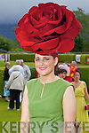 Joann Murphy, Kilgarvan, winner of best hat award wearing a Carol Kennelly Millinery headpiece at Killarney races ladies day on Thursday.