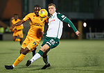 29.03.2019 Livingston v Hibs: Hakeem Odoffin and Florian Kamberi