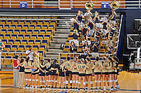 11 September 2011:  FIU's team joins arms as the band plays the school's alma mater after the FIU Golden Panthers defeated the Florida A&M University Rattlers, 3-0 (25-10, 25-23, 26-24), at U.S Century Bank Arena in Miami, Florida.