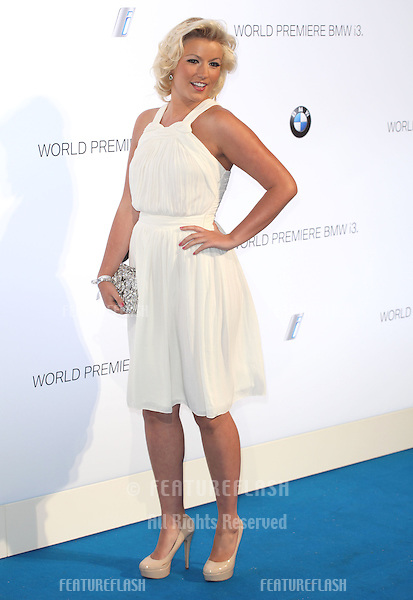 Natalie Coyle arriving for the BMW i3 Launch Party, at Old Billingsgate, London. 29/07/2013 Picture by: Alexandra Glen / Featureflash
