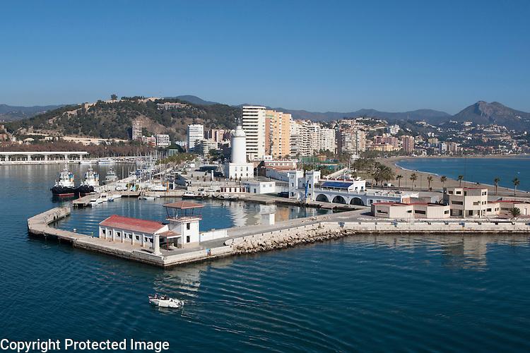 Beach front apartment buildings Malaga, Spain