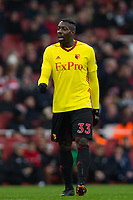 Watford's Stefano Okaka <br /> <br /> Photographer Craig Mercer/CameraSport<br /> <br /> The Premier League - Sunday 11th March 2018 - Arsenal v Watford - The Emirates - London<br /> <br /> World Copyright &copy; 2018 CameraSport. All rights reserved. 43 Linden Ave. Countesthorpe. Leicester. England. LE8 5PG - Tel: +44 (0) 116 277 4147 - admin@camerasport.com - www.camerasport.com