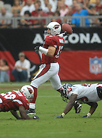 Aug 18, 2007; Glendale, AZ, USA; Arizona Cardinals quarterback Kurt Warner (13) against the Houston Texans at University of Phoenix Stadium. Mandatory Credit: Mark J. Rebilas-US PRESSWIRE Copyright © 2007 Mark J. Rebilas