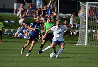 Kansas City, MO - Sunday August 28, 2016: Mandy Laddish, Kathryn Schoepfer during a regular season National Women's Soccer League (NWSL) match between FC Kansas City and the Boston Breakers at Swope Soccer Village.