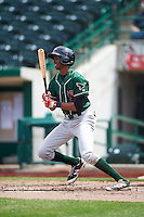Great Lakes Loons third baseman Brendon Davis (3) during the second game of a doubleheader against the Fort Wayne TinCaps on May 11, 2016 at Parkview Field in Fort Wayne, Indiana.  Great Lakes defeated Fort Wayne 5-0.  (Mike Janes/Four Seam Images)