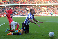 Jacob Murphy of Sheffield Wednesday goes down in the box during Charlton Athletic vs Sheffield Wednesday, Sky Bet EFL Championship Football at The Valley on 30th November 2019