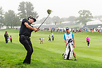 CROMWELL, CT. 20 June 2019-062019 - PGA Tour player Bubba Watson hits from the wet rough on the first hole, during the first round of the Travelers Championship at TPC River Highlands in Cromwell on Thursday. Bill Shettle Republican-American