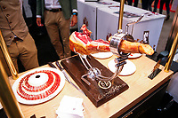 NEW YORK, NY - JUNE 23: Ham displayed during the Summer Fancy Food Show at the Javits Center in the borough of Manhattan on June 23, 2019 in New York, The Summer Fancy Food Show is the largest and biggest specialty food industry event in the continent (Photo by Kena Betancur/VIEWpress/Corbis via Getty Image