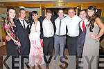 Having a great night in the Ring of Kerry Hotel at the Colaiste na Sceilge Debs Ball were l-r; Natasha McAleese, Niall Fitzgerald, Louise O'Connor, Paul Mulvihill, James Casey, Sean Curtin, Jason O'Sullivan & Megan O'Sullivan.