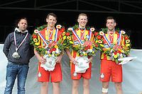 KAATSEN: FRANEKER: 16-05-2016, Bondspartij, Winnaar Minnertsga: Marten Bergsma, Hendrik Kootstra, Hylke Bruinsma, ©foto Martin de Jong